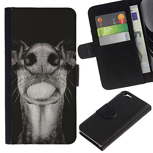 EuroCase - Apple Iphone 6 4.7 - Australian cattle dog black white muzzle - Cuir PU Coverture Shell Armure Coque Coq Cas Etui Housse Case Cover