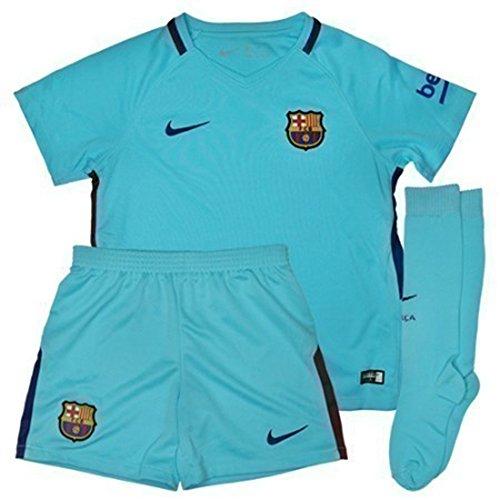 Nike FC Barcelona Stadium Away Little Kids' Soccer Mini Kit 2017-18 (Nike Youth Football Kits)