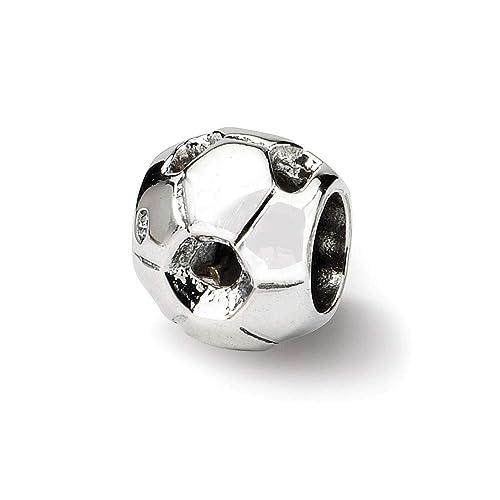 Plata de ley reflexiones SimStars balón de fútbol del encanto del ...