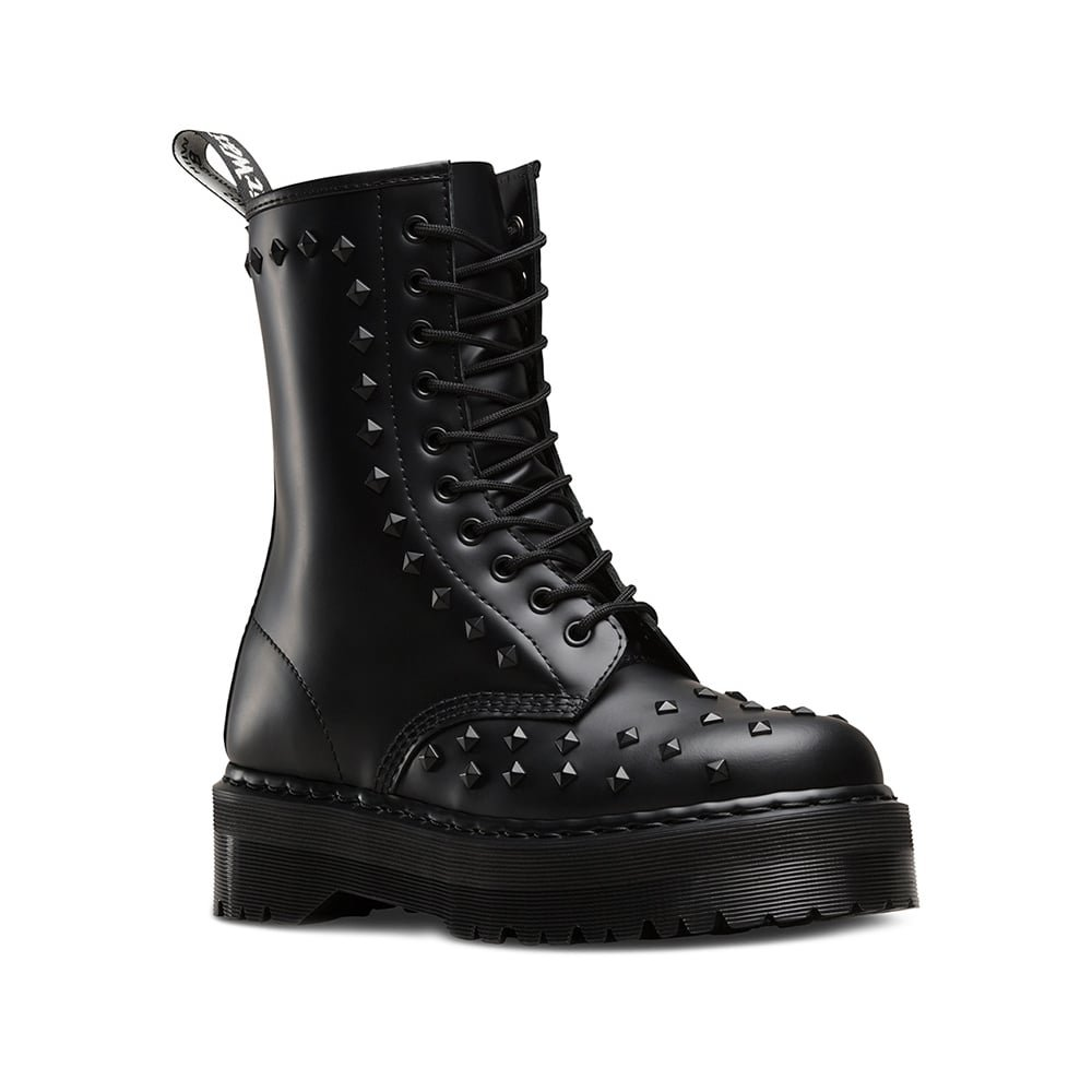 Dr. Martens Unisex-Adult 1490 Stud 10 Eye Boot B071GFTRCS 11 M UK|Black Smooth