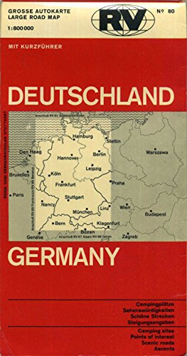 Grosse Autokarte Large Road Map Deutschland Germany