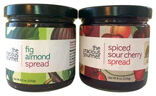 The Gracious Gourmet Fig Almond/Spiced Sour Cherry Spread, 16.3 Ounce