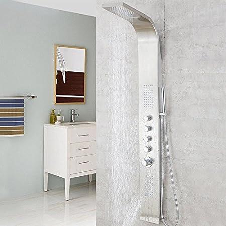 YSRBath Modernos Grifos del Fregadero del Cuarto de baño Mampara de Ducha termostática de Acero Inoxidable mampara de Ducha Cocina Mezclador Grifos de Lavabo: Amazon.es: Hogar