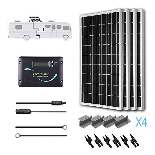 Renogy KIT-RV400D 400W 12V Monocrystalline Solar RV Kit with Adventurer by Renogy