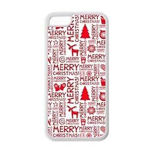 Custom Christmas Quotes,Santa Claus Design Rubber TPU Case for Iphone 5C