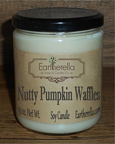 NUTTY PUMPKIN WAFFLES Natural Soy Wax 14 oz. Jar Candle & Hand Lotion, 90+ hours