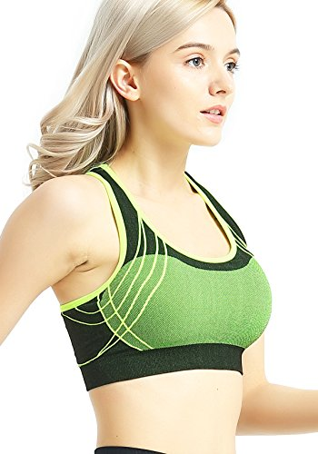 637189bcff482 Capricia O Dare Women s Sports Bras Seamless Racerback Wireless Padded For Workout  Yoga