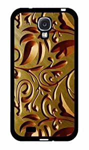 Gold Floral Pattern- TPU RUBBER SILICONE Phone Case Back Cover Samsung Galaxy S4 I9500