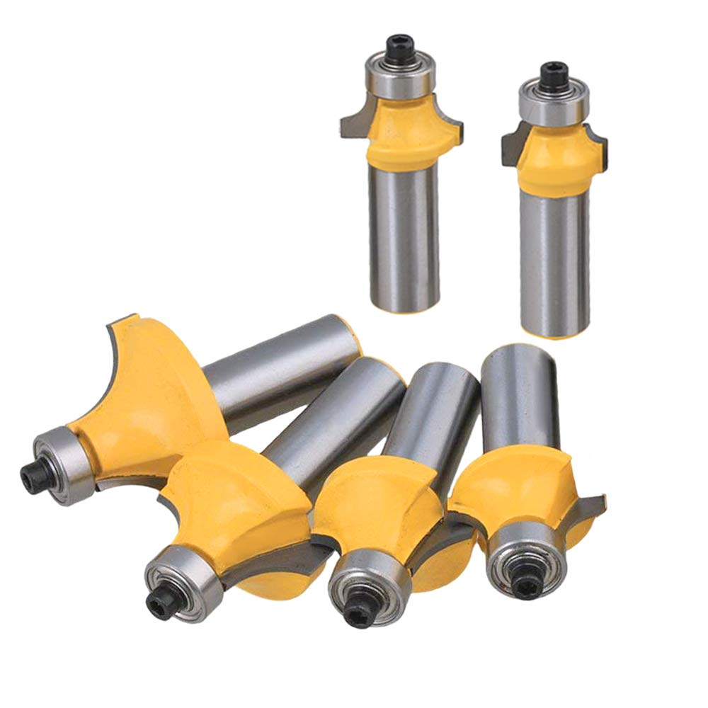 Bestgle Set of 6 Roundover Edging Router Bit Set 1/2-Inch Shank Woodworking Milling Cutter Tools, 1/8'', 1/4'', 5/16'', 3/8'', 7/16'', 1/2''Radius by Bestgle (Image #4)
