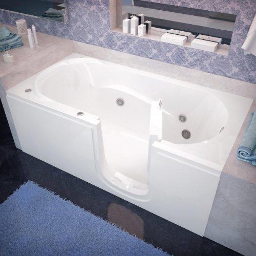 Spa World Venzi Vz3060sirwh Rectangular Whirlpool Walk-In Bathtub,...