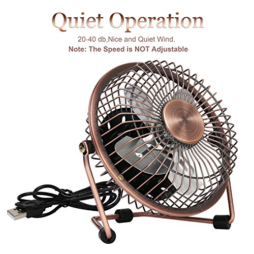 Small Quiet Electric Fans : Glamouric small usb desk fan mini metal personal retro
