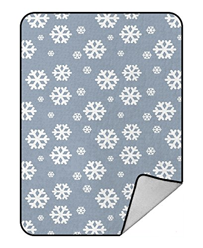 ASGF Custom Snowflake Blanket Crystal Velvet Front and Lambswool Sherpa Fleece Back Throw Blanket -