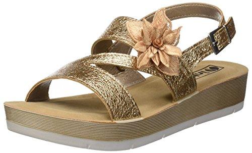 Strap Sandals Desy Women''s 054 Platino INBLU Ankle Gold wtqS5dxaaI