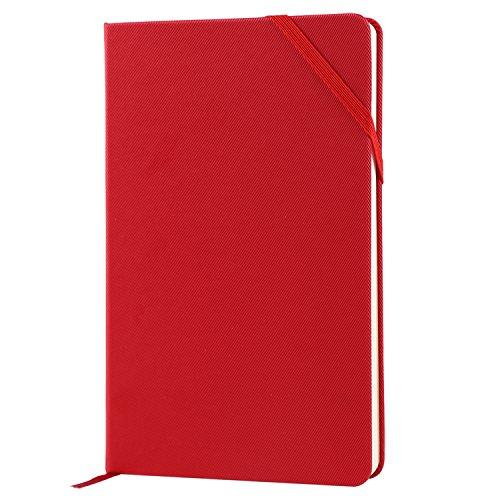 SmallPocketNotebook-A6MiniHadcoverClassicNotebook,Plain,Red, 3.5x5.5