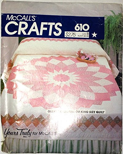 VINTAGE McCall's CRAFTS Pattern #610 ***GIANT DAHLIA QUILT*** ()