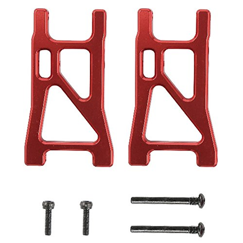 Cheerwing A2505 Alloy Suspension Arms Upgrade RC Car Parts for REMO 1/16 Scale RC Truck Truggy Buggy, Red (Parts Rc Hobby)