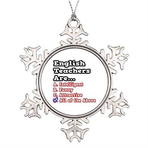 Personalised Christmas Tree Decoration English Teacher Quiz...Joke House Christmas Decorations