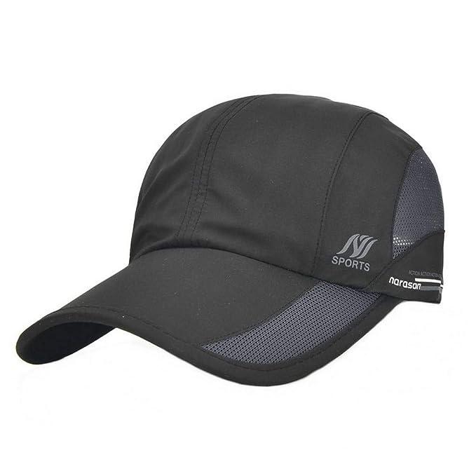 UKERDO Unisexo Gorras de Béisbol Sombreros Secado Rápido Moda Aire Libre  Deportes Golf Sol Gorras (A)  Amazon.es  Ropa y accesorios 90495f94dff