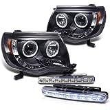2005-2011 TOYOTA TACOMA PROJECTOR HEAD LIGHTS HALO HEADLIGHTS + 8 LED FOG LAMPS