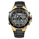 SKMEI Men's Digital Watch 50M Waterproof Large Dual Dial Multifunction Analog Military Outdoor Sports Electronic Watch Calendar Day Date (CH032)