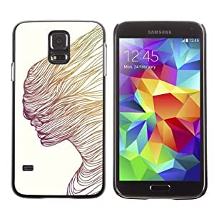 Licase Hard Protective Case Skin Cover for Samsung Galaxy S5 - Cool Abstract Art