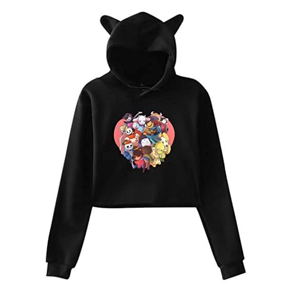 Amazon.com: Nyanhif Woman Undertale (9) Midriff with Cap Cat ...
