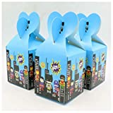 12PCS Candy Box Cartoon Theme Birthday Party Supplies Baby Shower Gift Boxes (SUPERHERO)