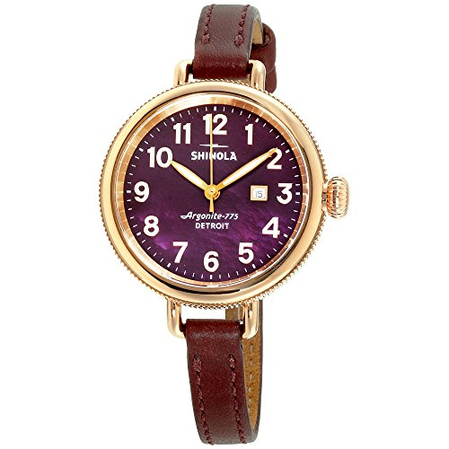Shinola The Birdy Mother of Pearl Dial Leather Strap Ladies Watch 20077933