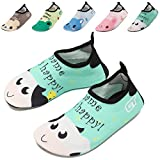 GFtime Water Shoes, Kids Skin Aqua Socks Shoes Barefoot Quick Dry For Swim Pool Beach Yoga Sports 7 8 Inch
