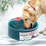 Exblue Multifunctional Pet Bowl for Food & Water,Heated Pet Bowl,Constant Temperature Water Food Feeder,Thermal-Bowl for Dogs Cats Rabbits and Birds,Feeding & Pet Watering Supplies Pet Basic Bowls