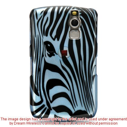 DreamWireless CABB8330BLZF Blackberry 8330 And 8300 Crystal Case Blue Zebra Face