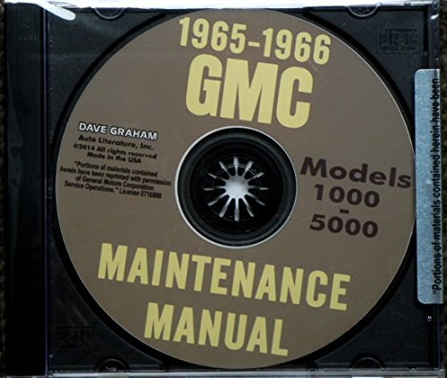 Duty Spa (1965 & 1966 GMC TRUCK & PICKUP FACTORY REPAIR SHOP & MAINTENANCE MANUAL - CD INCLUDES; Suburbans, stakes, stepvans, medium duty, 1000, 1500, 2500, 3000, 3500, 4000, 5000, A, AH,)