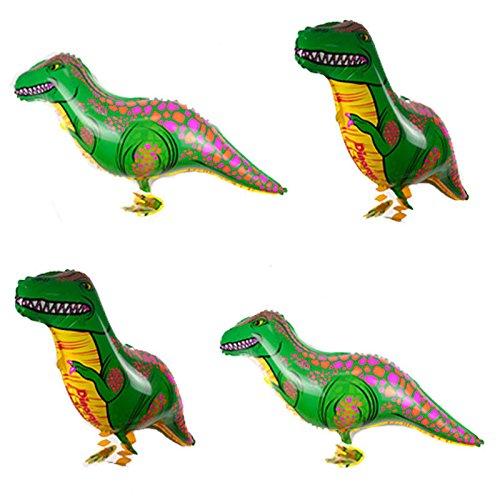 1 Pcs Lovely Green Dinosaur Walking Animal Balloons Huge Pet Balloon Toy EF N@N