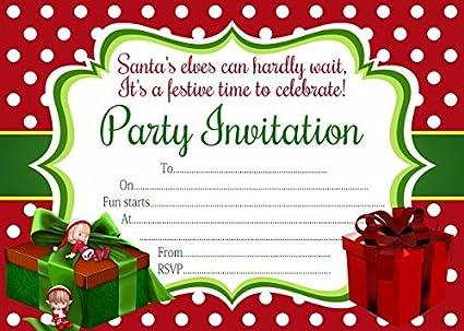 10 X Invitaciones Para Fiesta De Navidad Amazon Es Oficina