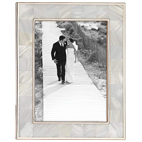 - Reed & Barton Mother of Pearl Rose Gold 5x7 Frame