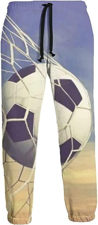 Men U0026 39 S Jogger Sweatpants Soccer Shoot Ball Net Jogger Pants
