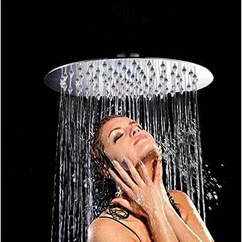 rainfall shower headartbath 10 inch large rain shower head ultra thin 304 stainless steel with showerhead swivel metal ball connector round chrome finish