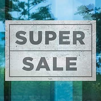 Basic Gray Window Cling 36x24 5-Pack CGSignLab Super Sale