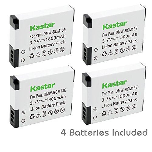 Kastar Battery (4-Pack) for Panasonic DMW-BCM13, DMW-BCM13PP work with Panasonic Lumix DMC-FT5, Panasonic Lumix DMC-LZ40, Panasonic Lumix DMC-TS5, Panasonic Lumix DMC-TZ37, Panasonic Lumix DMC-TZ40, Panasonic Lumix DMC-TZ41, Panasonic Lumix DMC-TZ55, DMC-TZ60, Panasonic Lumix DMC-ZS27, Panasonic Lumix DMC-ZS30, Panasonic Lumix DMC-ZS35, Panasonic Lumix DMC-ZS40 Cameras