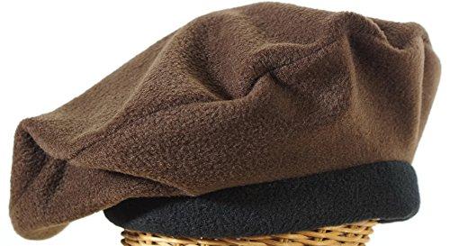 Fleece Beret In Brown Made...
