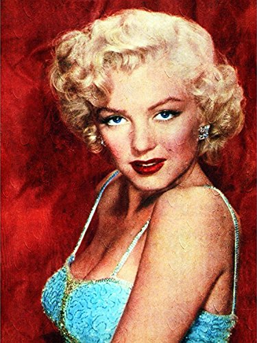 DIY Crystals Painting Kit 5D Resin Full of Diamond Painting By Number Kits Marilyn Monroe (30x40)CM/(12x15) Inches