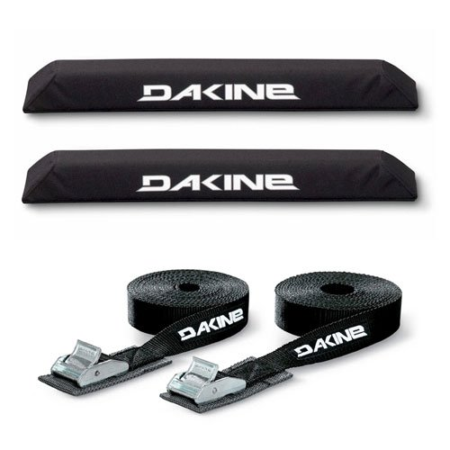 DaKine Long Aero Rack Pads with 12' Tie Down Straps - Black