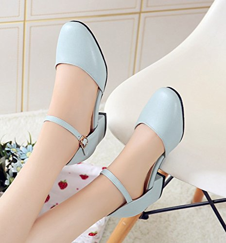 cc9b1c59a49631 ... Aisun Femmes Confort Bout Fermé Robe Boucle Chunky Talons Bas Sandales  Chaussures Avec Sangles À La ...