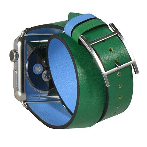 JSGJMY Leather Replacement Watchbands ForestGreen