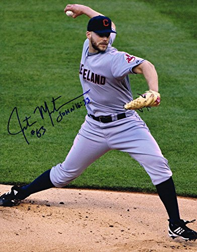 - Justin Masterson Signed Picture - 11X14 COA - Autographed MLB Photos