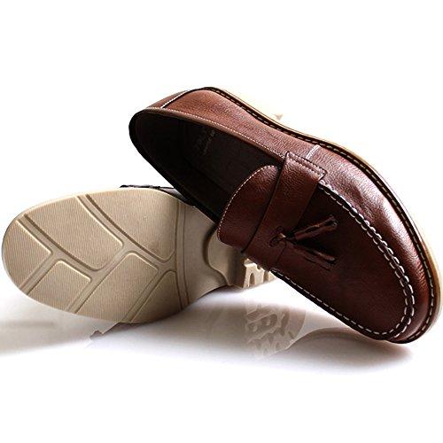 New Mooda Nappa Mocassini Fashion Slip On Sneakers Uomo Casual Scarpe Eleganti Marrone