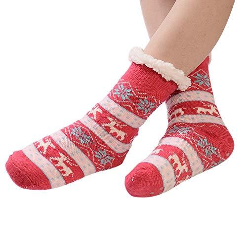 Malbaba Christmas Costume, Christmas Women Cotton Socks Print Thicker Anti-Slip Floor Socks Carpet Socks]()