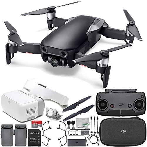 DJI Mavic Air Drone Quadcopter (Onyx Black) + DJI Goggles FPV Headset VR FPV POV Experience Essential Bundle by SSE