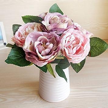 jhdh2 dcoration florale de fleur en cramique blanche pot comme une fleurs toute la table