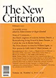THE NEW CRITERION Vol. 28 No. 6, February 2010: A Monthly Review